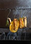 Zucchini und Pilze räuchern