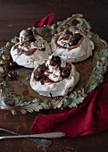 Mini Black Forest pavlovas