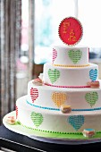 A bright and cheery wedding cake