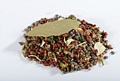 A mix of lentils, dried vegetables, herbs and spices