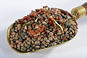 A mix of lentils, dried vegetables and herbs