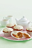 Coconut cupcakes with exotic fruits