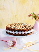 Christmas cake with almonds