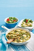 Frittata con gli asparagi e la ricotta (asparagus omelette)