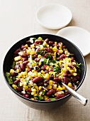 Bean salad with sweetcorn and coriander