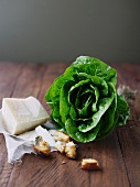 Lettuce, parmesan and croutons