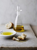 Olive oil and crispy white bread