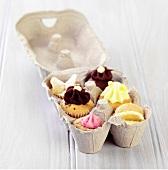Mini Cupcakes in an Egg Carton