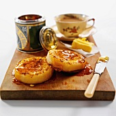 Crumpets with Golden syrup