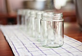 Sterilised jam jars - jam making - step shot