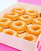 Box of Glazed Doughnuts