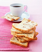 Almond bread and coffee