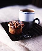 Espresso and a mini nut cake
