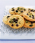 Polenta biscuits with pistachios and chocolate chips