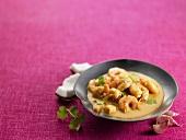 Garnelen-Kokos-Suppe mit Knoblauch