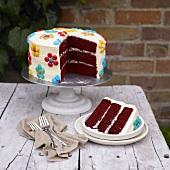 Red Smarties Sponge Cake