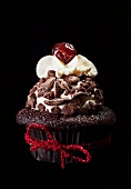 Celebration chocolate cupcake
