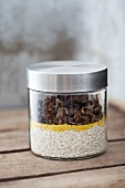Mushroom risotto mix in a jar
