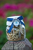 Herbal tea in a jar as a gift