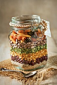 Bean and Pasta Soup Mix in a Jar