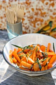 Carote al Marsala (carrots in Marsala wine with tarragon, Italy)