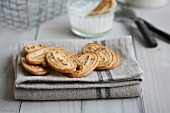 Pastry whirls with black and white sesame seeds