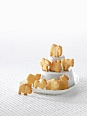 Butter biscuits shaped like various animals