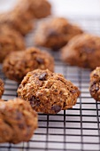 Oat biscuits on a cooling rack