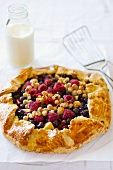 Open-topped apple and berry pie