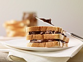 Triple-layer Nutella sandwich