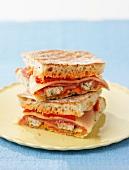 Mediterranean toasted sandwiches
