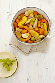 Vegetable stew with autumn fruits