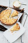 Apple cider cake and cream