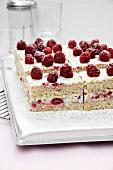 Raspberry quark slices