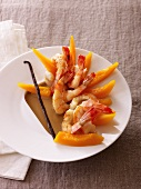 Prawns with squash and vanilla butter