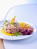 Veal tartare with yuzu and turmeric sauce