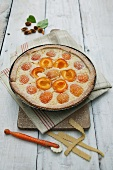 Apricot rice pudding tart