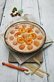 Apricot rice pudding tart