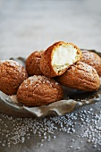 French Chouquettes Filled with Vanilla Bean Cream