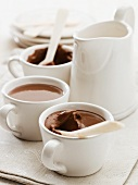 Spiced chocolate and orange mousse in cups