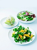 Three different salads