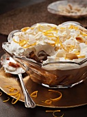Trifle with Amaretto and lemon zest