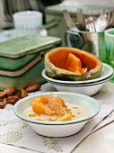 Almond soup with melon