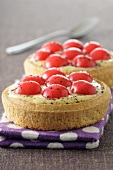 Small cherry tartlets