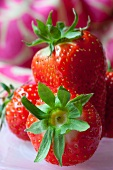 Strawberries, close up