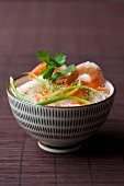 Rice noodles with prawns, China