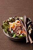 Quinoa salad with smoked salmon