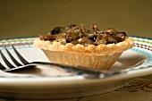 A mushroom and leek tartlet