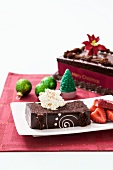 Chocolate mud cake for Christmas