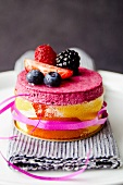 Mini berry mousse layer cake